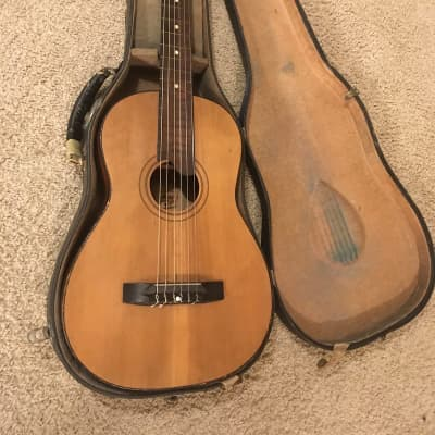 Hawaiian group classical guitar parlor size 1930s Natural in very good condition for sale