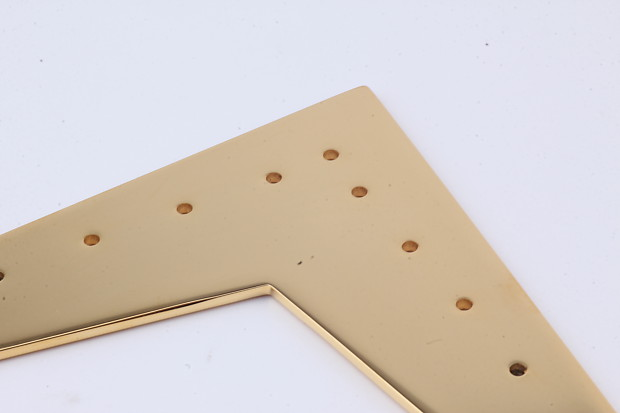 Nails Flying-V Stringplate Gold plated incl Brass brads