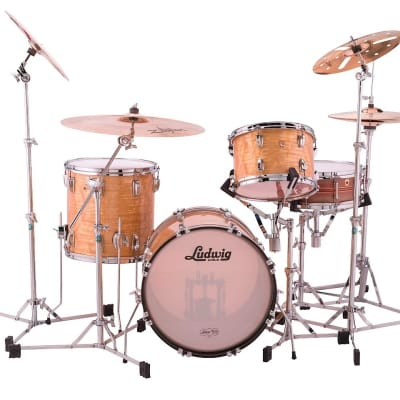 "Ludwig Legacy Mahogany Jazzette Outfit 8x12 /14x14 / 14x18"" Drum Set"