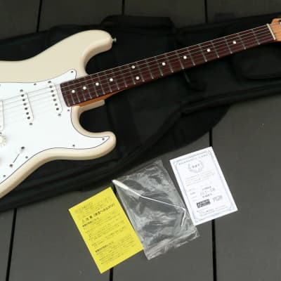 Fujigen JST-5R MIJ strat  2014 White+Gig Bag and extra goods for sale