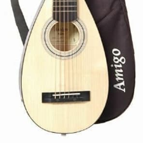 Amigo AMT10 Travel/Portable Backpacker Steel-String Acoustic Guitar with Gig Bag for sale