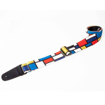 "Henry Heller HSUB2-06 2"" Toy Box Multicolor Panels Guitar Strap"
