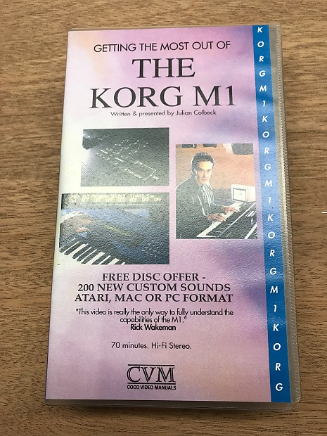 Coco Video Manual Korg M1 1991 VHS tape