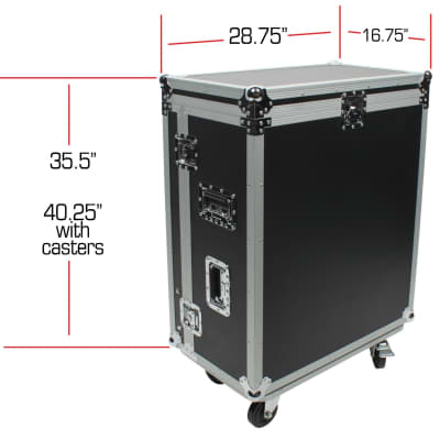 OSP ATA Flight Road Tour Case w/ Casters and Doghouse for Presonus 24.4.2 Mixer