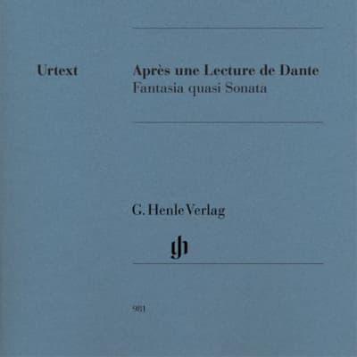 Après une Lecture de Dante Fantasia quasi Sonata - HN981 / LIBRI MUSICALI