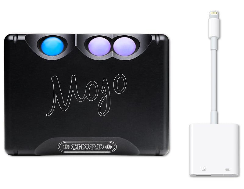 Chord Electronics Mojo DAC/Headphone Amplifier with Apple Lightning to USB  3 Camera Adapter