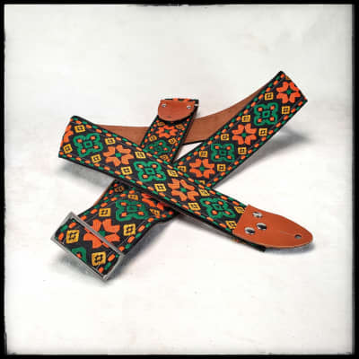 Toms Vintage Orange 'Altamont' Guitar/Bass Hippie Strap