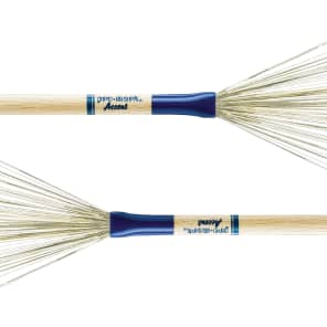 Pro-Mark B300 Non-Retractable Accent Brushes w/ Oak Handles (Pair)