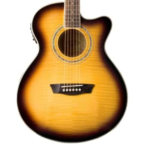 New Washburn EA15ATB Festival Series Acoustic Electric Guitar, Tobacco Sunburst + Free Shipping