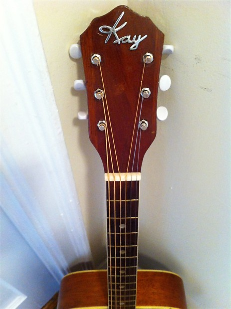 Progressive Near Me >> Vintage Kay Archtop Acoustic Guitar 1950's Natural | Reverb