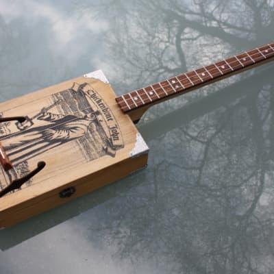 Chickenbone John A/E Cigar Box Guitar w/Fishman Presys for sale