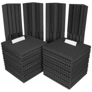 Auralex PROJ2ROOMCHA Project 2 Roominator Kit with 24 Panels, 8 Bass Traps
