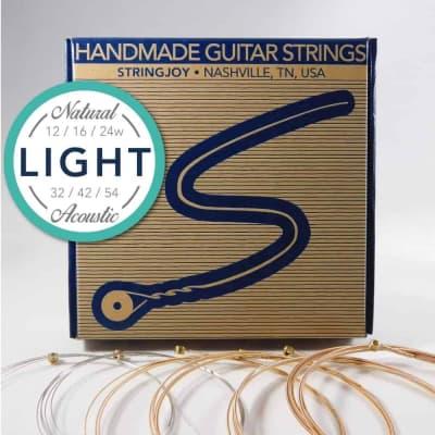 Stringjoy Light (12-54) Natural Bronze Phosphor Acoustic Guitar Strings
