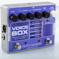 Electro-Harmonix Voice Box Guitar Pedal 4 part Harmonizer 256-band Vocoder w Mic Preamp