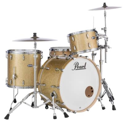MCT943XP/C347 Pearl Masters Maple Complete 3-pc. Shell Pack BOMBAY GOLD SPARKLE
