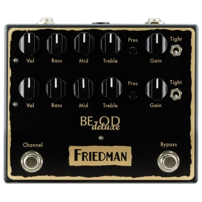 Friedman BE-OD Deluxe Dual Overdrive Guitar Effects Pedal - 763815130491