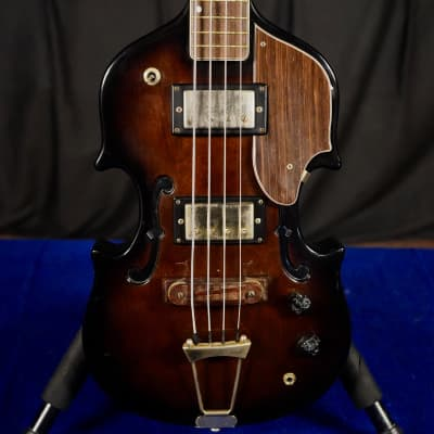 1960s Cameo Deluxe Bass Guitar Brown for sale