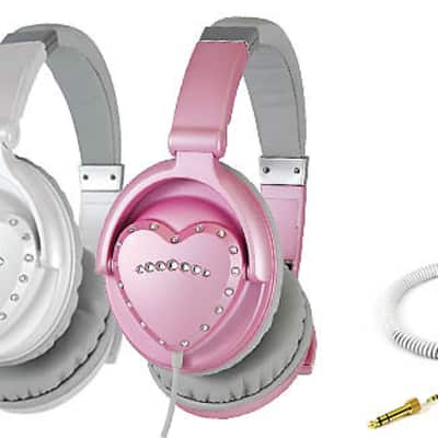 Vestax AMS-HMX-1 White Heart Shaped Headphones