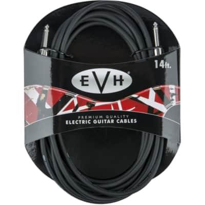 EVH Premium 14' Straight Guitar Cable, Black