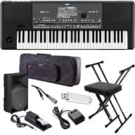Korg Pa600 Professional Arranger Keyboard COMPLETE STAGE BUNDLE