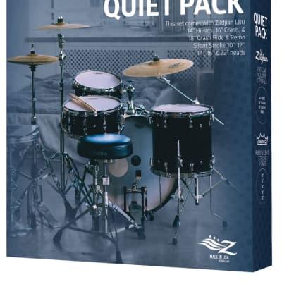 Zildjian Quiet Pack w/L80 Low Volume Cymbals & Remo SilentStroke Heads