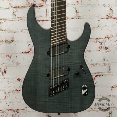 LTD by ESP M-1007 Multi-Scale - See Thru Black Satin Electric Guitar x0965 for sale
