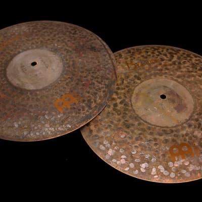 "Meinl Byzance Extra Dry 15"" Medium Thin Hat Cymbals (855 & 1382g) w/ VIDEO! Hats Hihat"