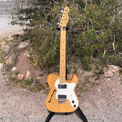 Fender '72 Reissue Thinline Deluxe Telecaster Electric Guitar 2006 Natural for sale
