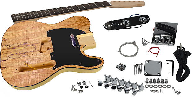 solo tck 1sm diy electric guitar kit with spalted maple top reverb. Black Bedroom Furniture Sets. Home Design Ideas