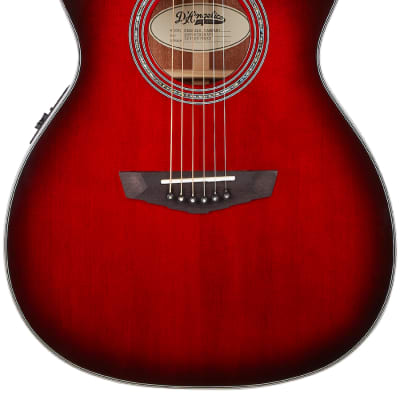 D'Angelico Premier Tammany OM Electro Acoustic in Trans Black Cherry Burst for sale