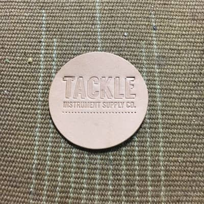Tackle Small Leather Bass Drum Beater Patch - Natural