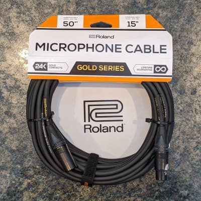 Boss - Gold Series - XLR Microphone Cables - Lifetime Guarantee - 24K Gold Contacts - 50ft