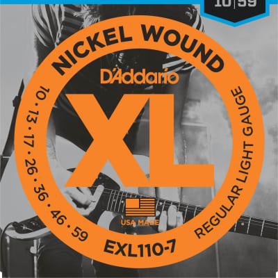 D'Addario EXL110-7 7-String Regular Light Nickel Wound Electric Guitar Strings - 10-59 Gauge