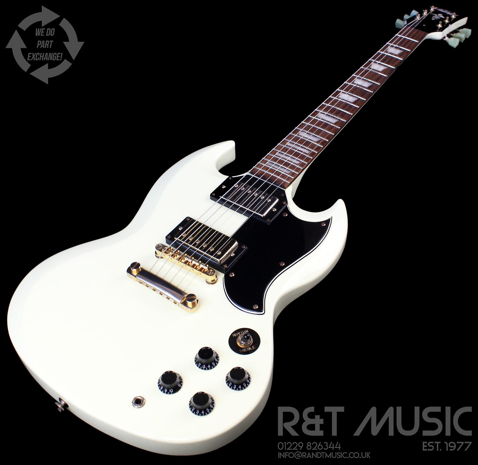 Vintage Vs6 Reissued Electric Guitar In Vintage White