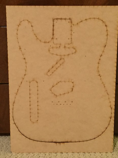 Tele telecaster guitar body build template luthier tool reverb tele telecaster guitar body build template luthier tool maxwellsz
