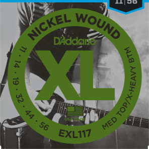 D'Addario EXL117 Nickel Wound Electric Guitar Strings Medium Top / Extra-Heavy Bottom Gauge