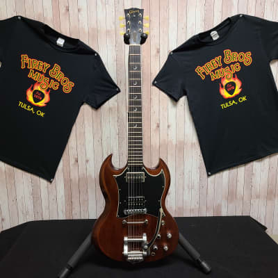 Gibson SG 2002 Mahogany Electric Guitar with Added Bigsby Tailpiece and Crescent Moon Inlay for sale