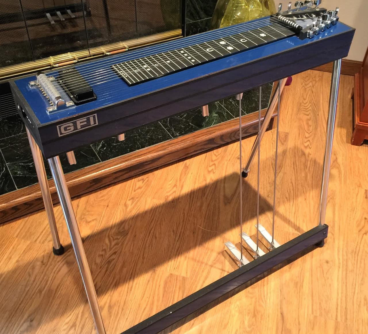 gfi s 10 blue 3x4 pedal steel guitar w extras reverb. Black Bedroom Furniture Sets. Home Design Ideas