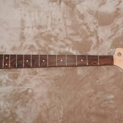 "J-Bass Style Neck Bolivian Rosewood on Hard Maple 20 Medium Tall Frets Slim Profile 7.25"" Radius"