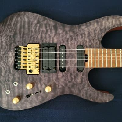 Jackson Jackson USA Phil Collen Signature PC1 Satin Transparent Black guitar 2020 Satin Transparent for sale