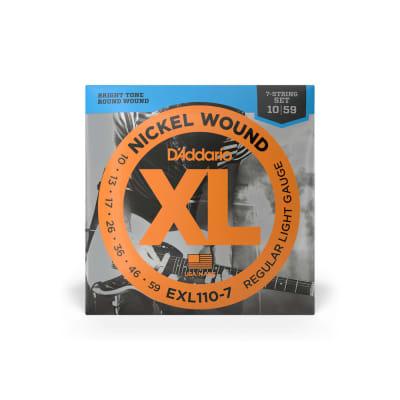 D'Addario EXL110-7 Nickel Wound, 7-String, Electric Guitar String Set, Regular Light, 10-59