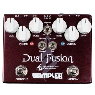 New Wampler Tom Quayle Signature Dual Fusion V2 Overdrive Guitar Effects Pedal!