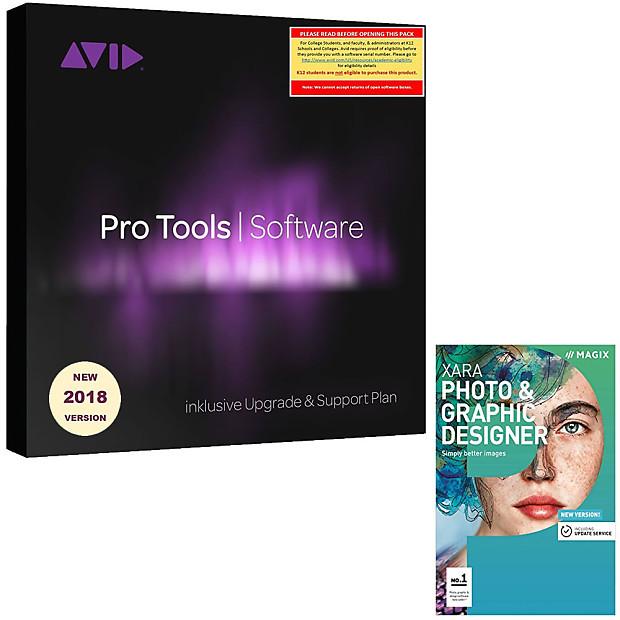 Avid Pro Tools 2018 Academic (Download Card + iLok) w/FREE Xara Photo &  Graphic Designer 15!