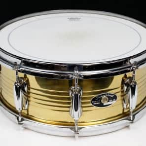 "Slingerland ""HSS/MusicYo Era"" 5.5x14"" 10-Lug Brass Snare Drum 1990s - 2000s"