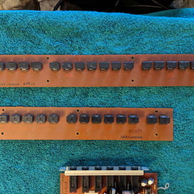 Akai AX80 Synthesizer - 2 Switch Panels - PARTS As Is