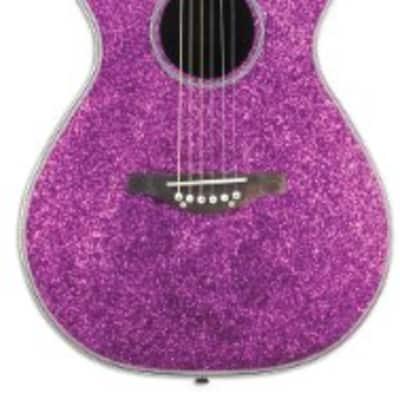 Daisy Rock Pixie Acoustic-Electric Pink Sparkle Guitar for sale