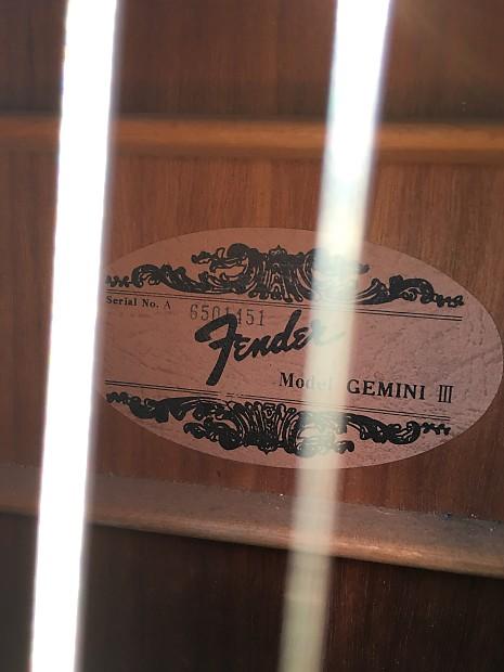 Fender Gemini Iii Black Acoustic Guitar Reverb