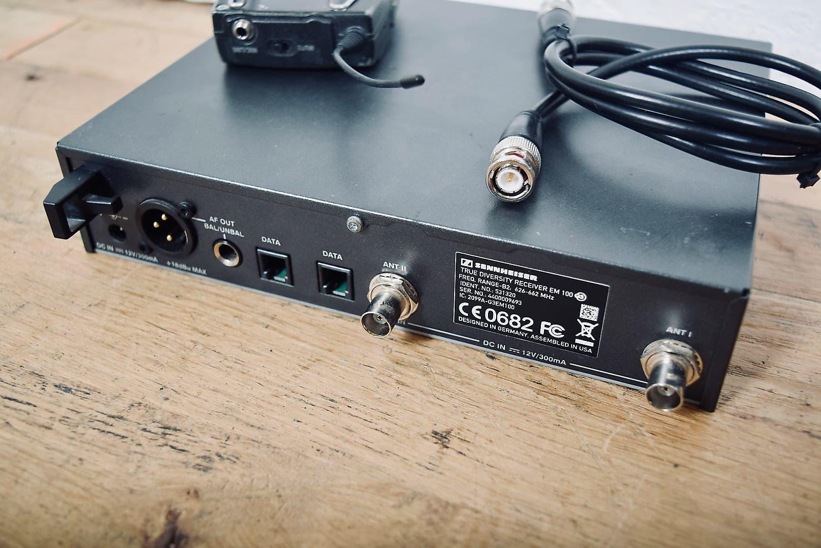 Sennheiser EW100 G3 wireless microphone system belt pack 626-662 mhz excellent
