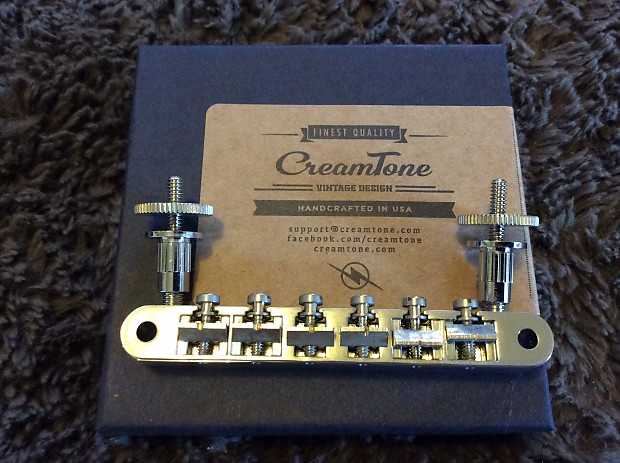 Creamtone ABR-1 Bridge Aged Nickel fits USA Gibson Les Paul Nashville posts