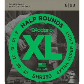 D'Addario EHR330 Half Round Electric Guitar Strings Extra-Super Light 8-39